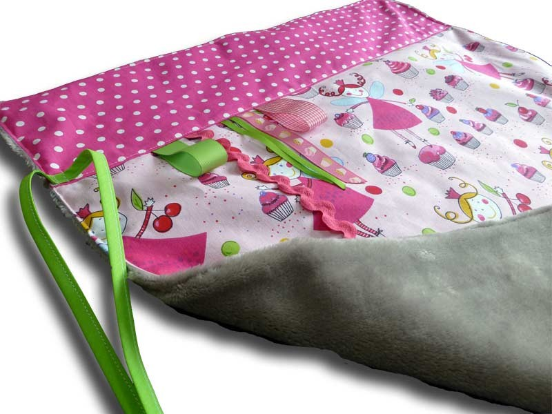 Couverture Bébé Personnalisée - Motif Fée Rose