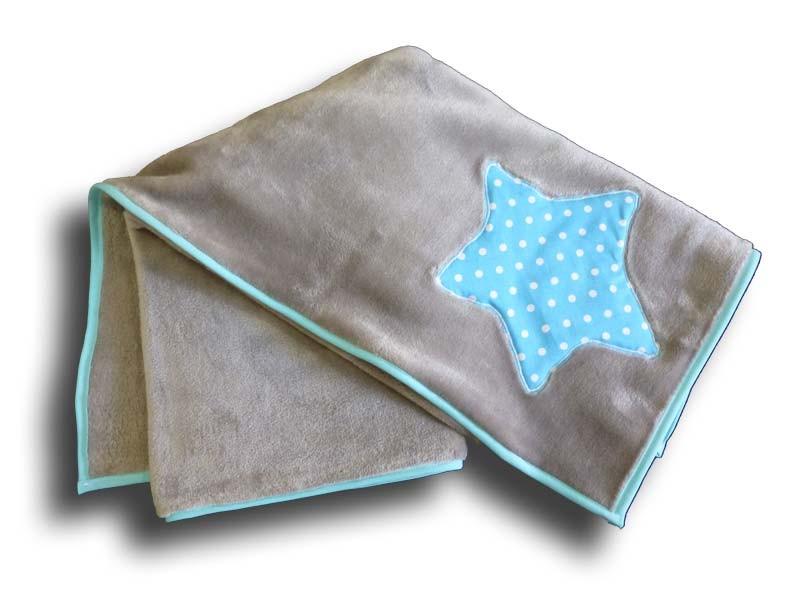 Couverture Enfant Personnalisée - Motif Etoile Bleue