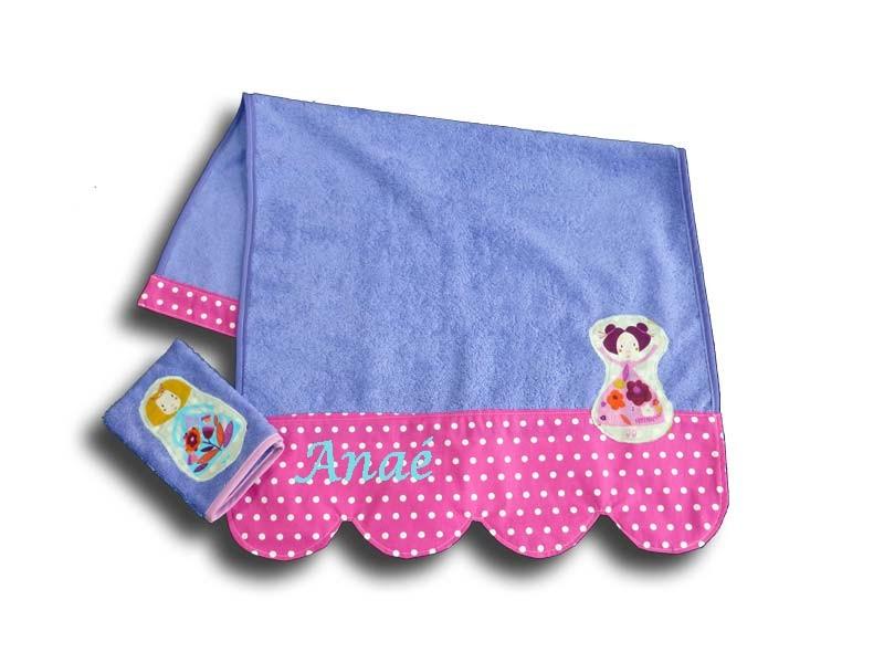 Serviette de Toilette Personnalisée Fille - Princesse