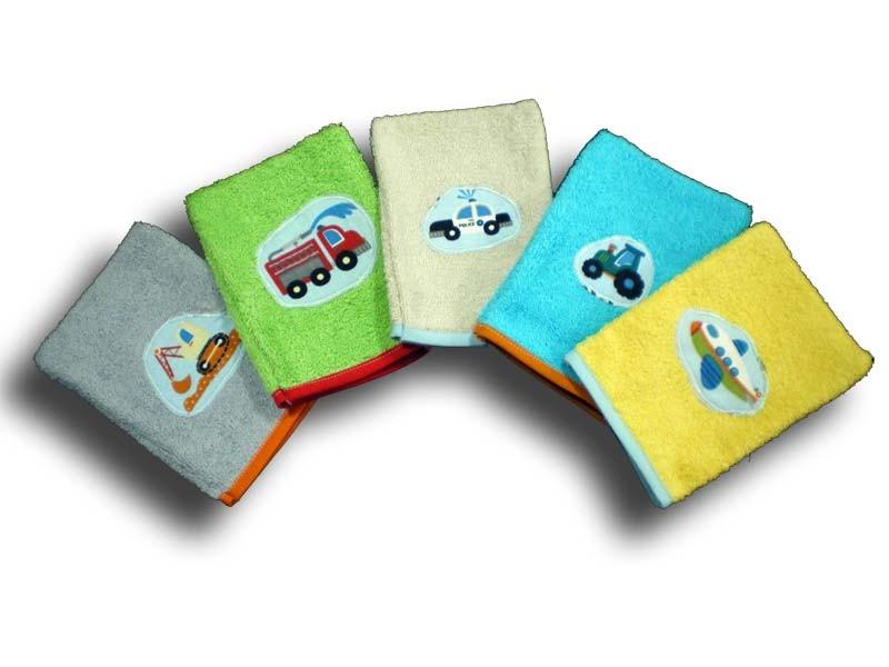 Gants de toilette Enfant Rigolos - Motifs Voitures