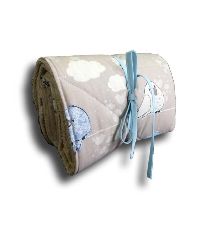 Cadeau Bébé Personnalisé - Matelas à Langer Naissance Oiseau Bleu