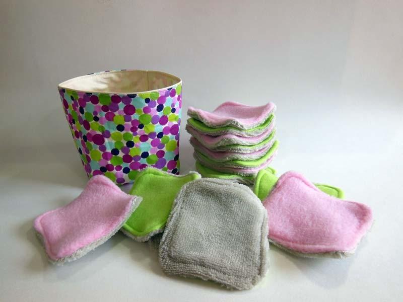 Coffret Cadeau Femme - Disques à démaquiller Lavable - Pointilliste violet