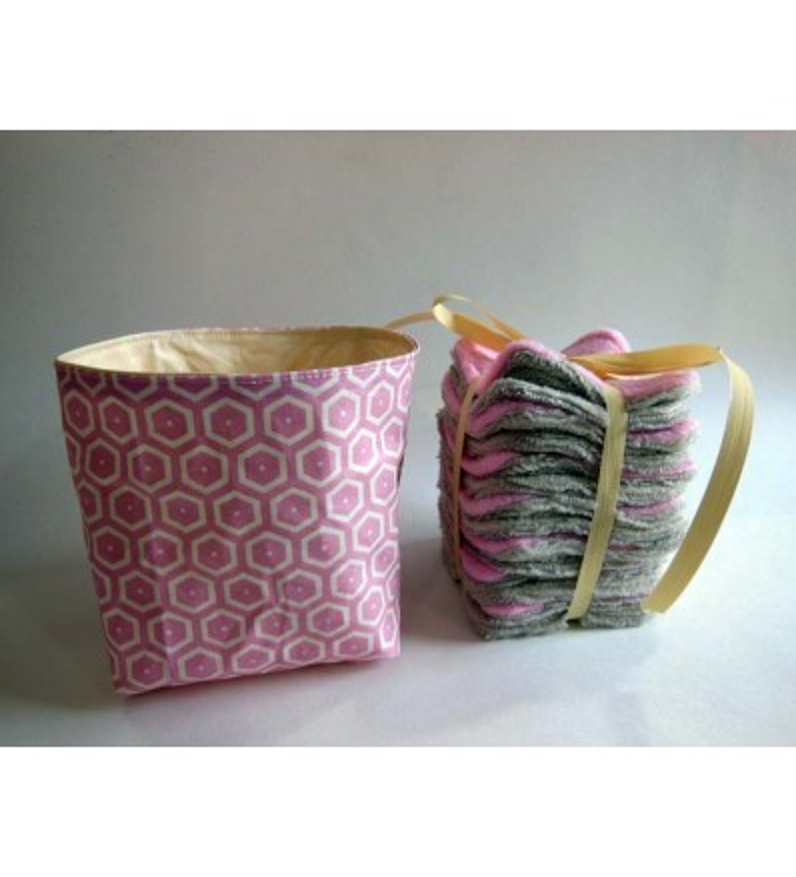 Coton Démaquillants Lavable Bambou - Rose Poudre