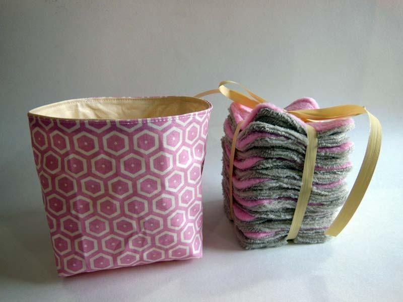 Cotons Démaquillants Lavable Bambou - Rose Poudre