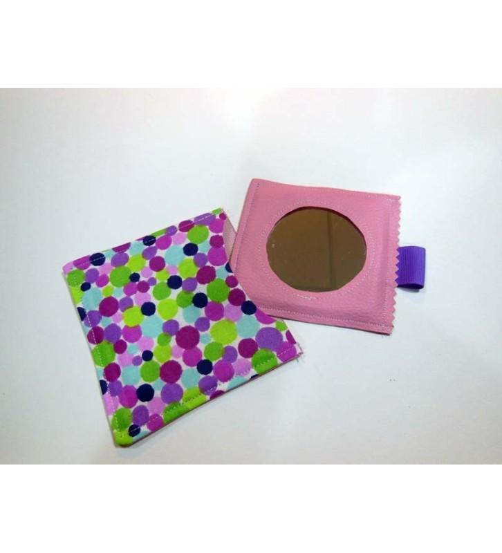 Miroir à Maquillage - Pointilliste Violet