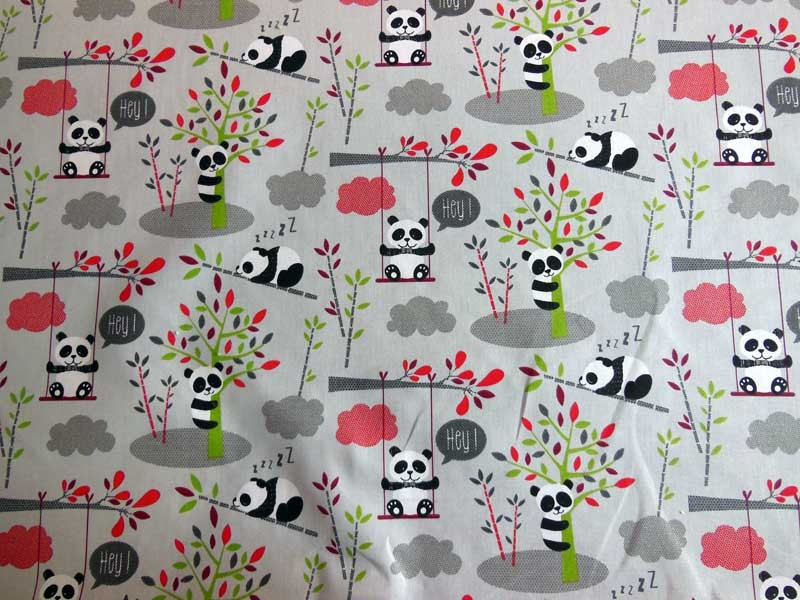 Tissus Coton Enfant - Panda