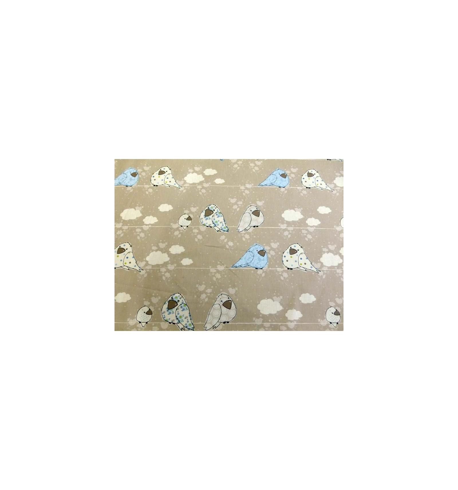 Tissu b b gar on bleu tissus d coration chambre enfant for Tissu pour chambre bebe