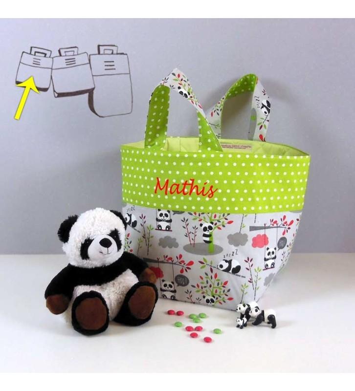 Petit Sac à Jouets Brodé - Motif Panda