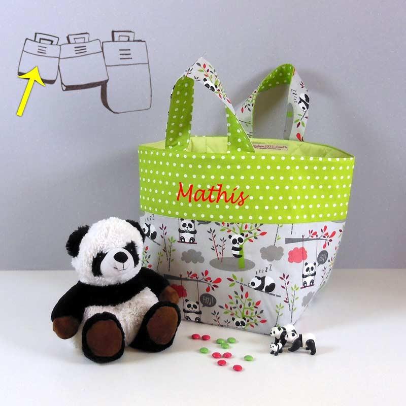 Sac à Jouets Brodé - Motif Panda