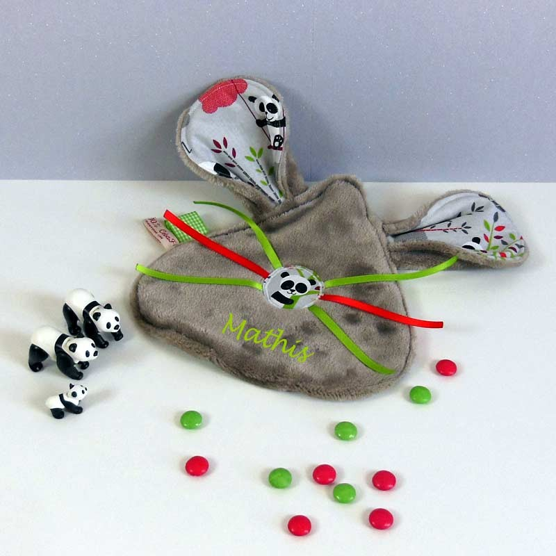 Doudou Personnalisé - Doudou Plat Panda
