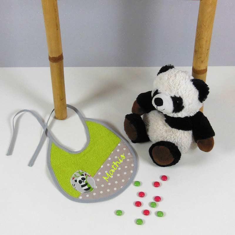 Bavoir Naissance Personnalisé - Panda