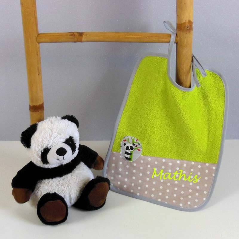 Bavoir en Eponge Personnalisé - Panda