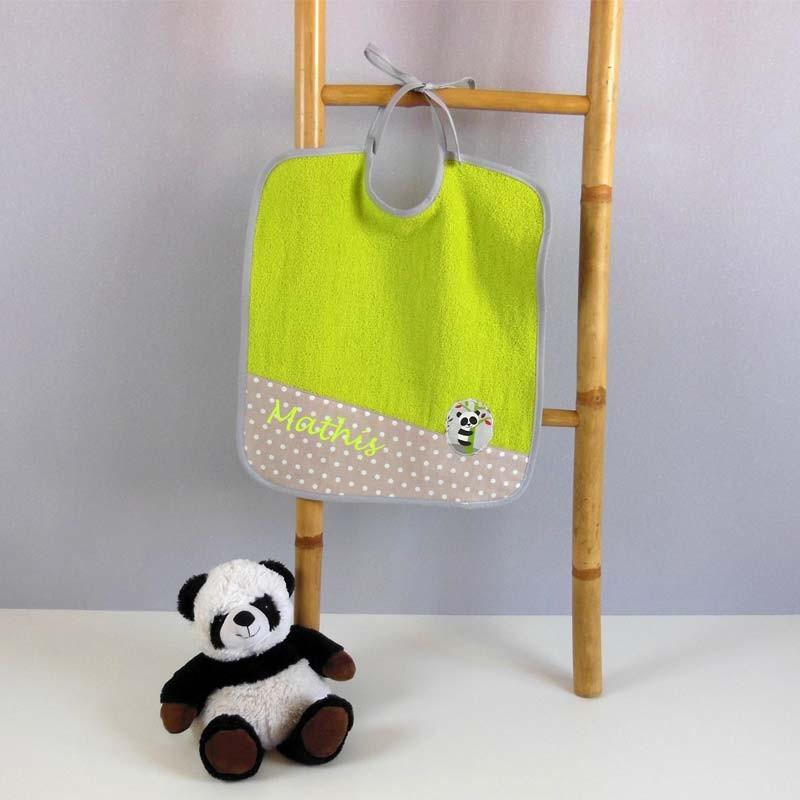 Grand bavoir éponge - Panda