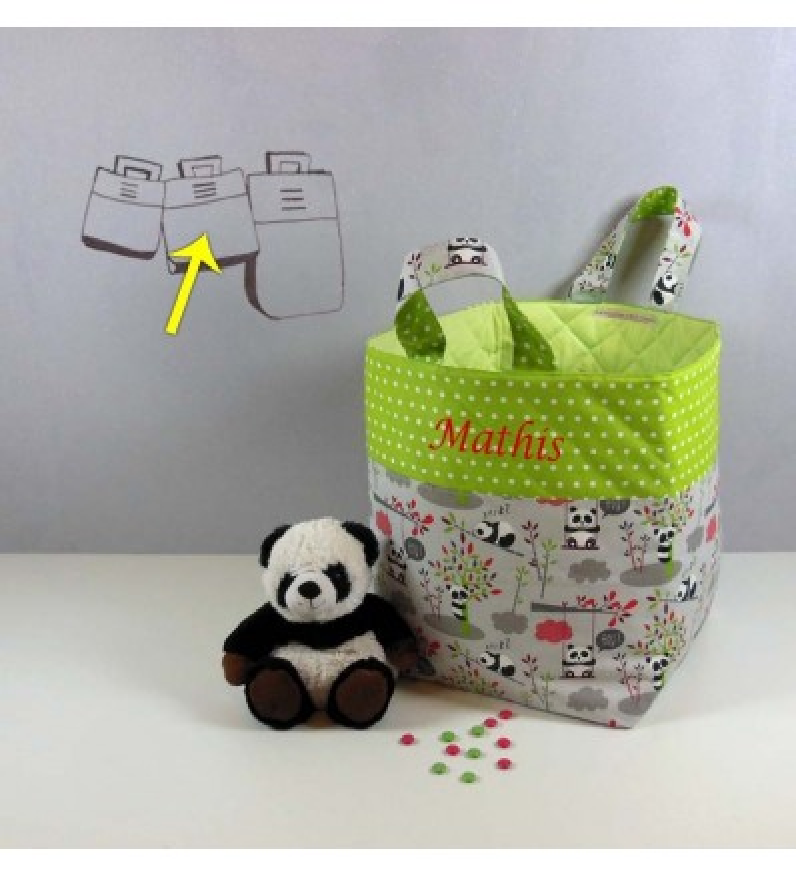 Sac en Tissu Rangement Enfant - Panda