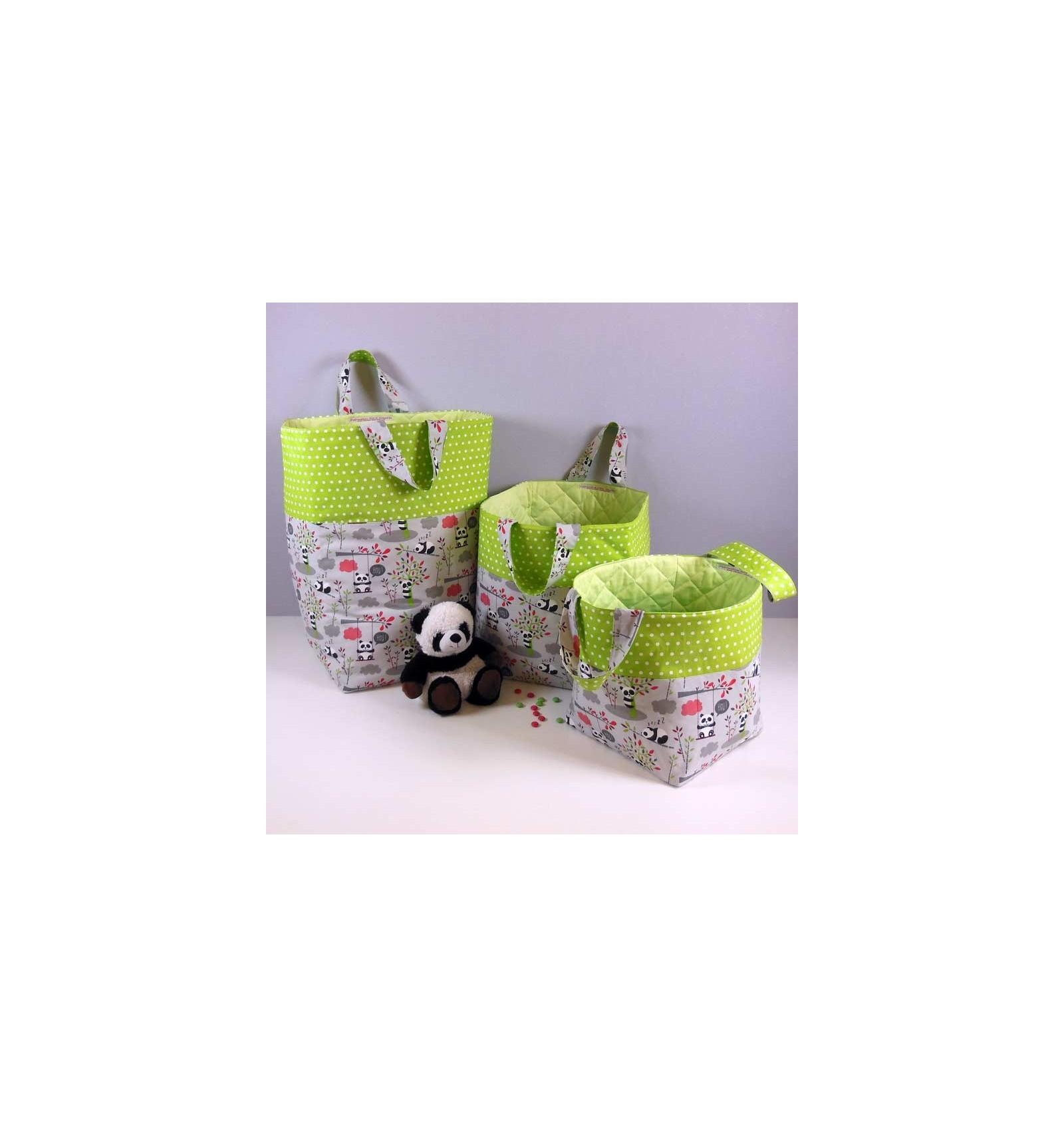 sac rangement chambre enfant motifs panda cr aflo. Black Bedroom Furniture Sets. Home Design Ideas