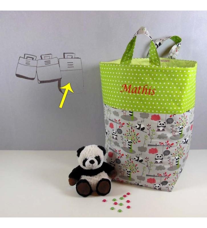 Grand Coffre de Rangement Jouets Enfant - Panda