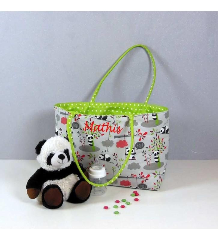 Cadeau Naissance Personnalisé - Sac à Langer Panda