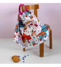 Serviette de table enfant lastiqu e serviette cantine maternelle cr aflo - Serviette de table pour cantine ...