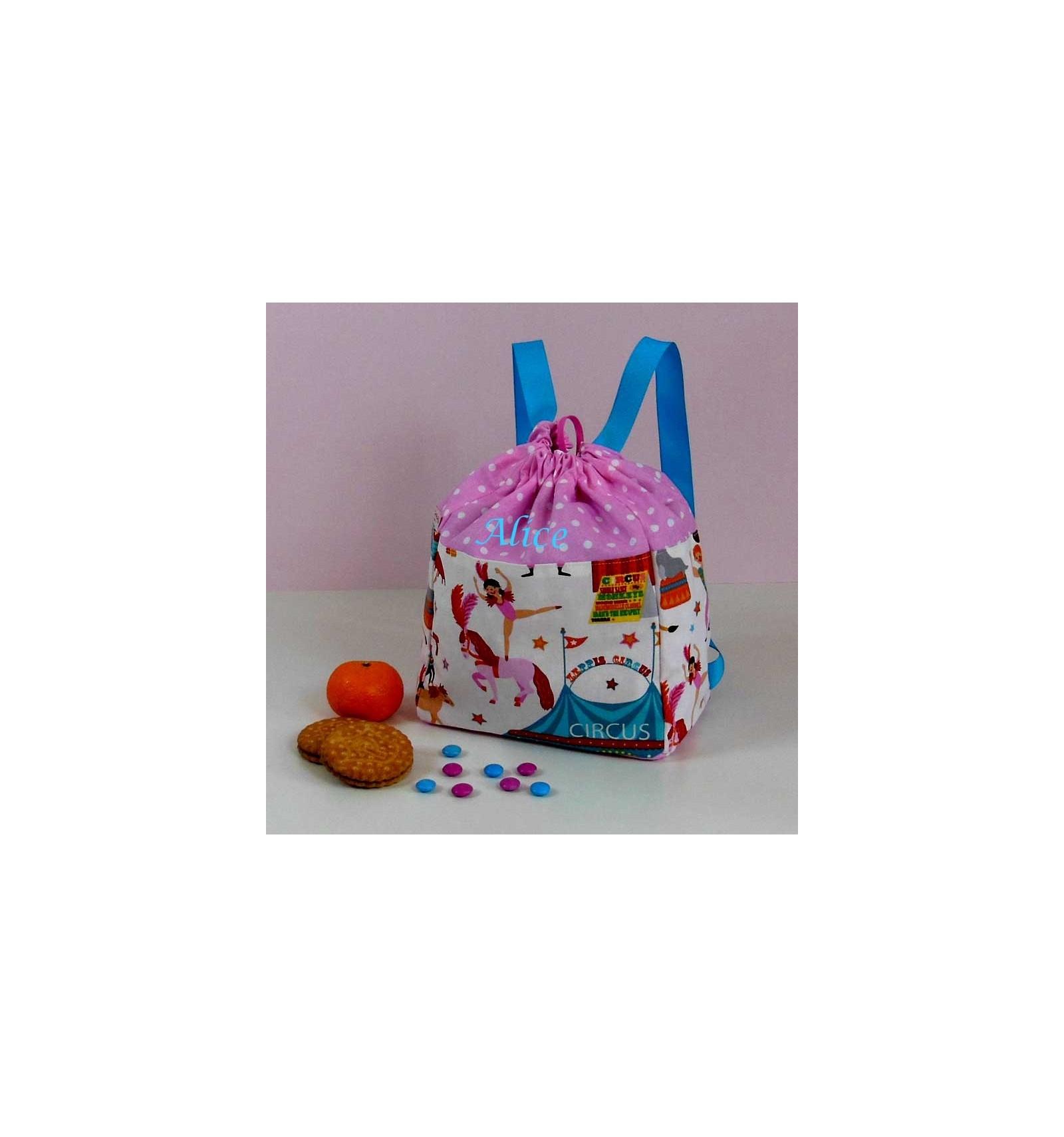 sac dos enfant maternelle sac enfant personnalis fille circus cr aflo. Black Bedroom Furniture Sets. Home Design Ideas