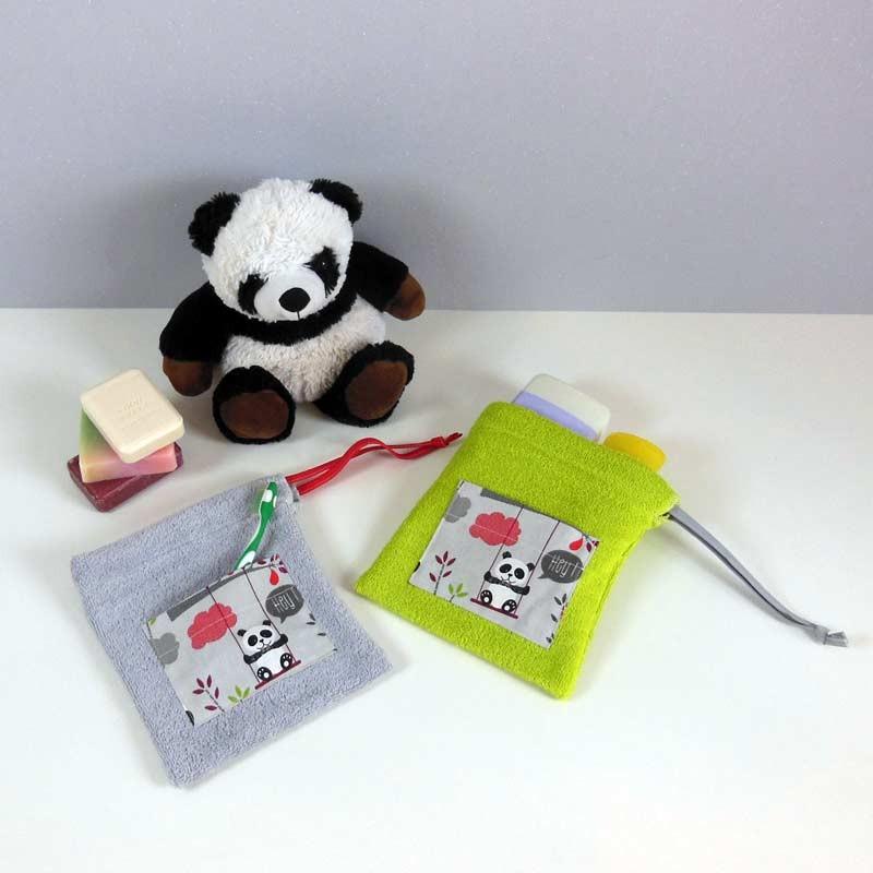 Trousse de toilette enfant personnalisée - Motif Panda