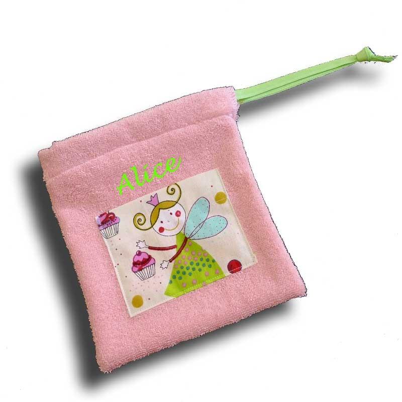 Trousse de toilette fille personnalisée - Motif Fée Verte
