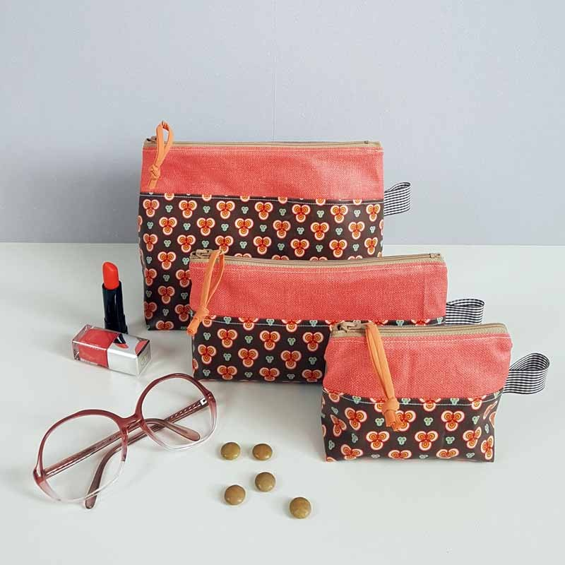 Trousse à Maquillage - Vintage Orange