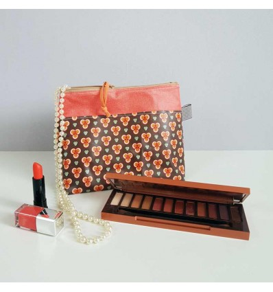Grande Trousse à Maquillage - Vintage Orange