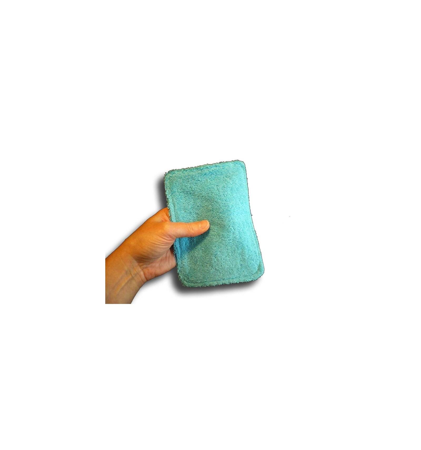 lingettes b b lavables en coton ponge bleu achat lingettes lavables pour le change de b b. Black Bedroom Furniture Sets. Home Design Ideas