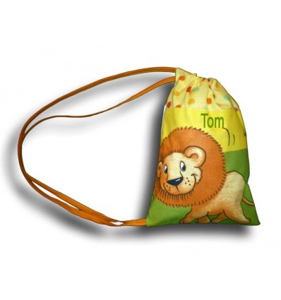 Sac fourre tout jungle multicolore lion