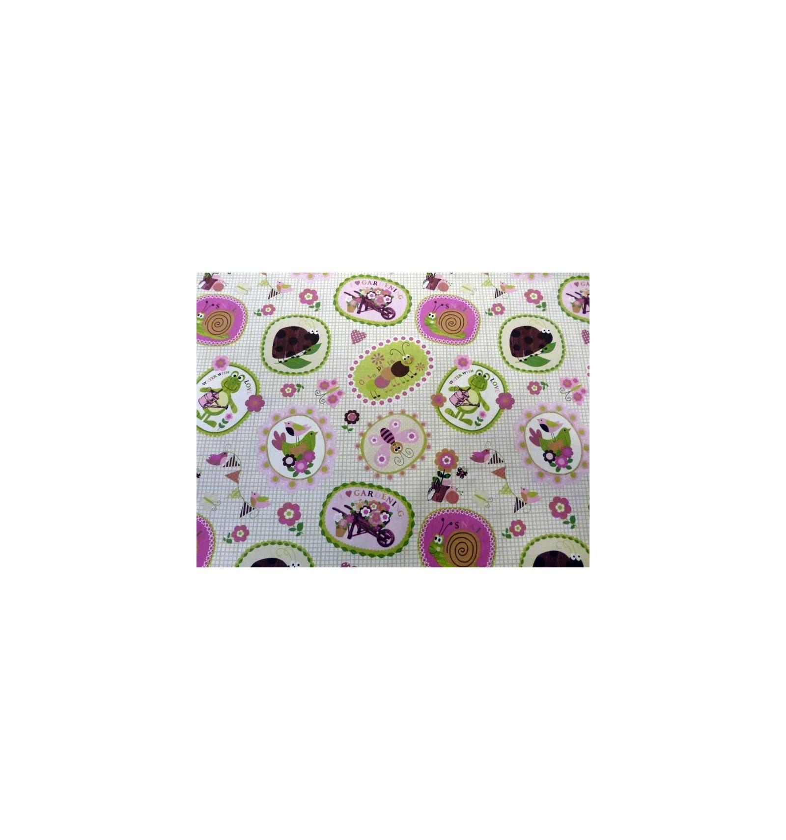 tissu pour enfant vente de tissu rose pour fille tissu coccinelle et papillon vente de tissu. Black Bedroom Furniture Sets. Home Design Ideas