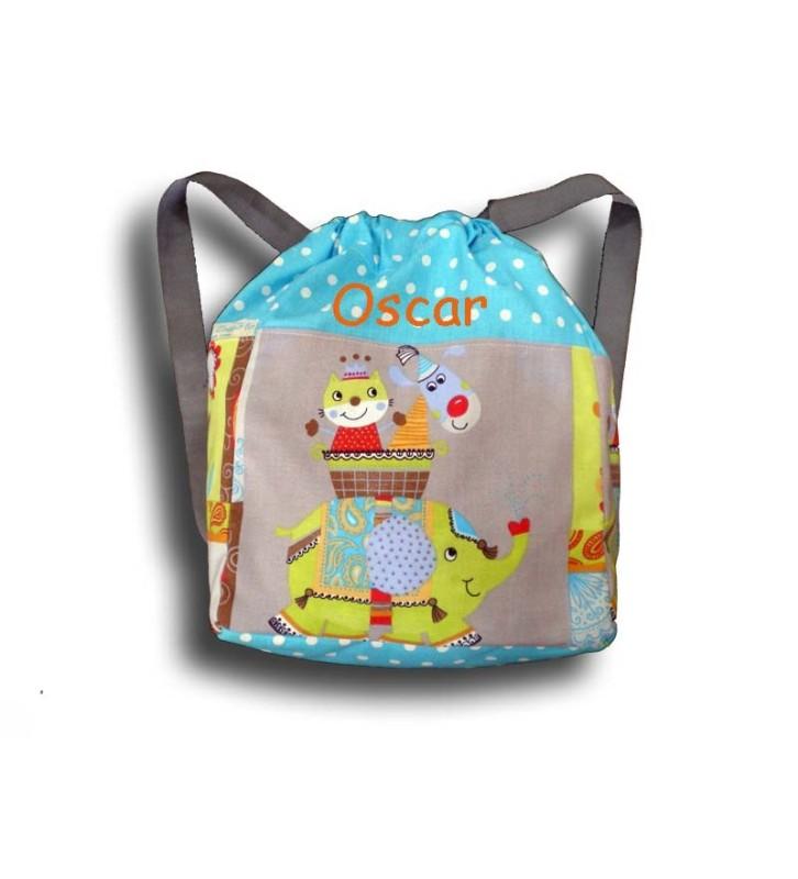 sac à dos cirque haut du sac bleu