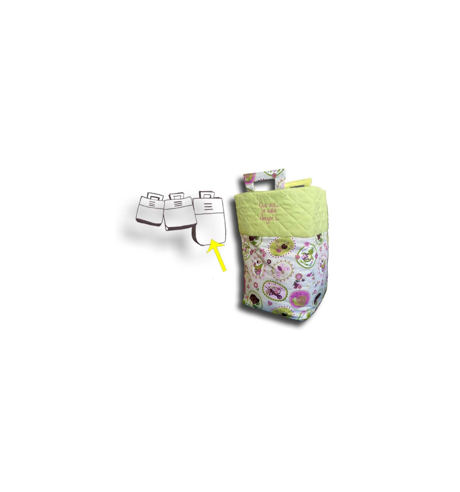 sac jouets g ant coffre jouets fille rose