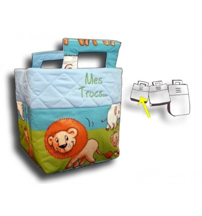 Petit sac à jouets Jungle lion
