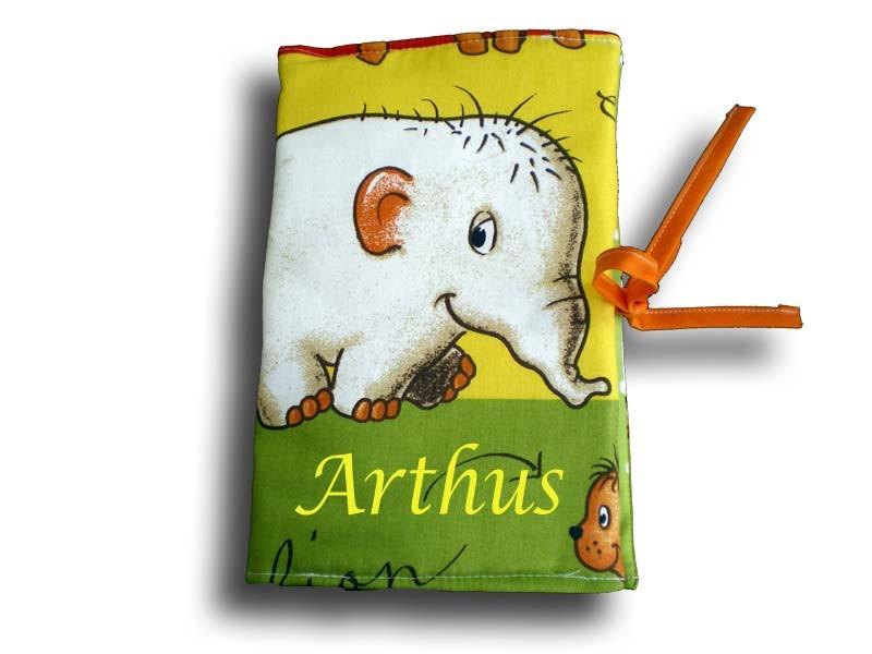 Protège carnet de santé thème jungle multicolore éléphant