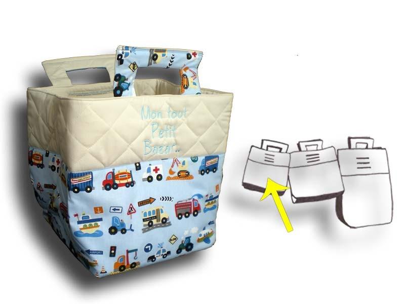 Petit sac à jouets thème camion