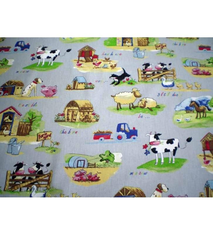 Tissu en ligne enfant gar on collection campagne for Tissu pour chambre bebe