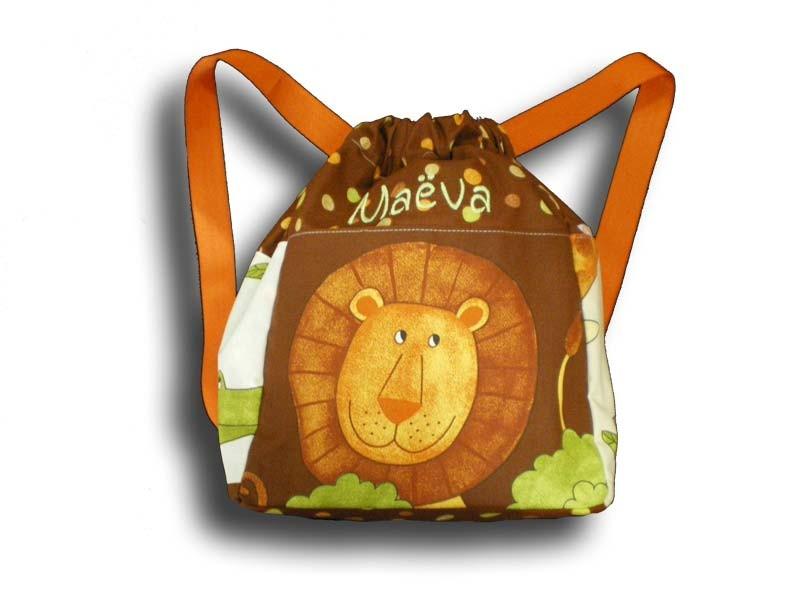 sac à dos lion ou éléphant chococo