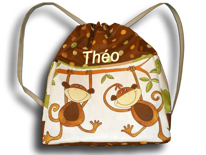 sac à dos singe ou girafe chococo