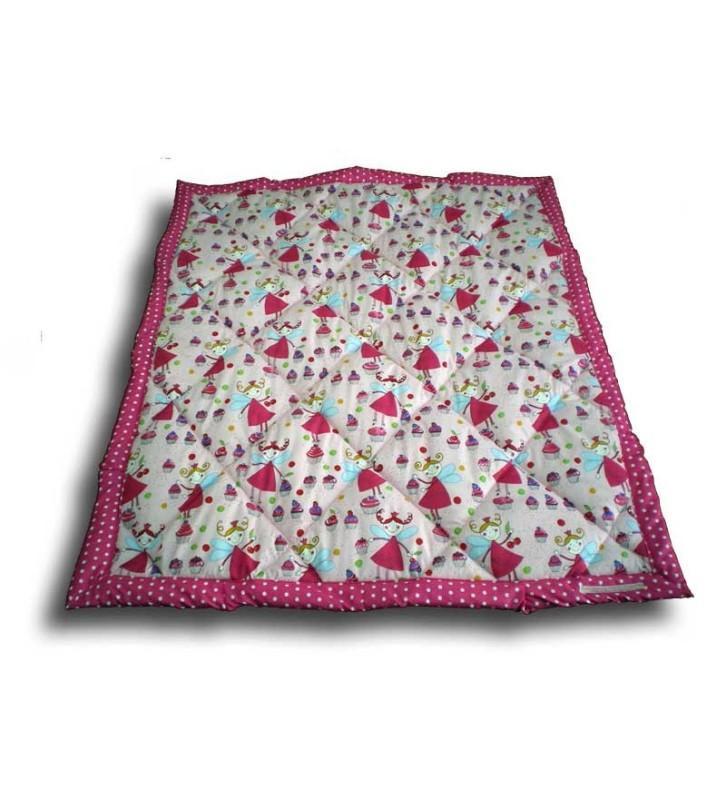 Plaid enfant 100 x 120 cm Fée rose