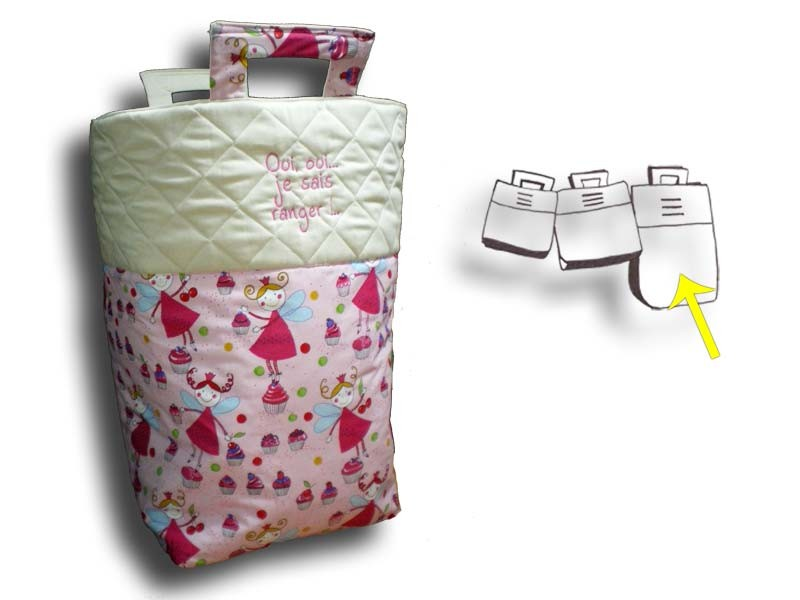grand sac de rangement jouets coffre jouets fille rose. Black Bedroom Furniture Sets. Home Design Ideas