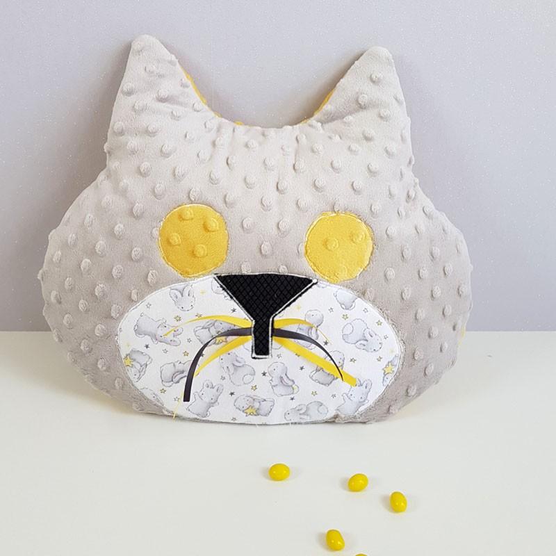Coussin Range Pyjama Chat - Modèle Lapinou