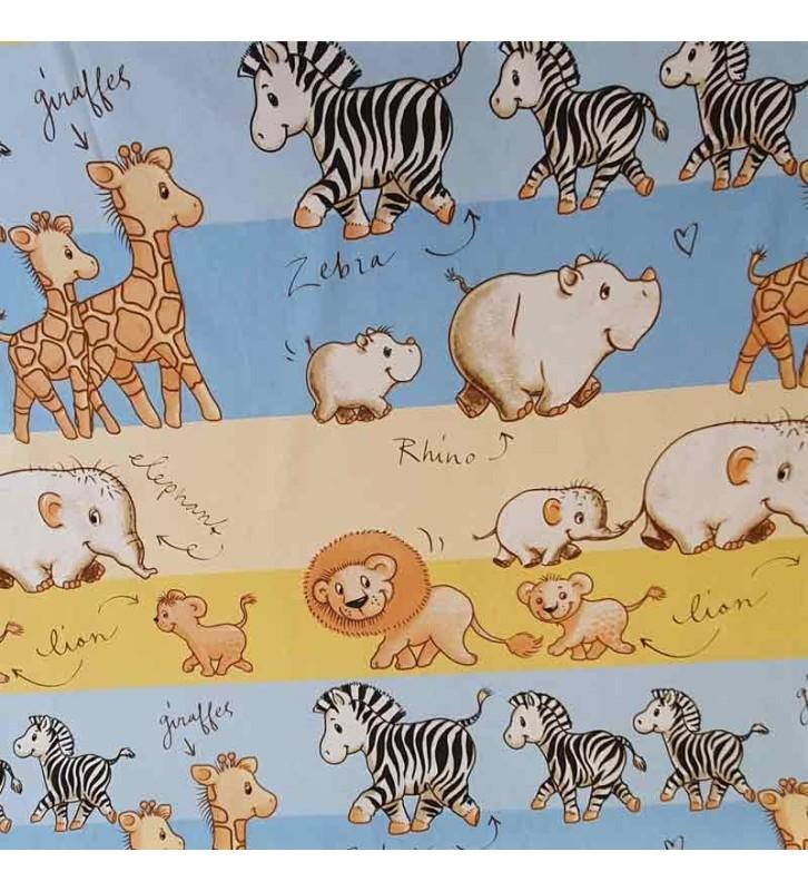 Tissu pour enfant jungle