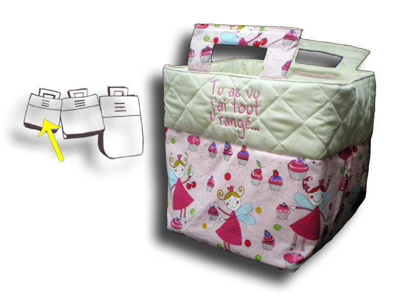 Petit sac à jouets Fée rose