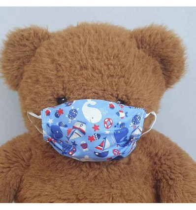 Masque Tissu Enfant Protection Anti Projection Postillons ...