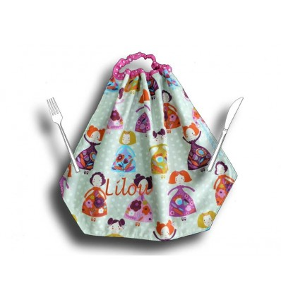 Serviette de table fille - Princesse.