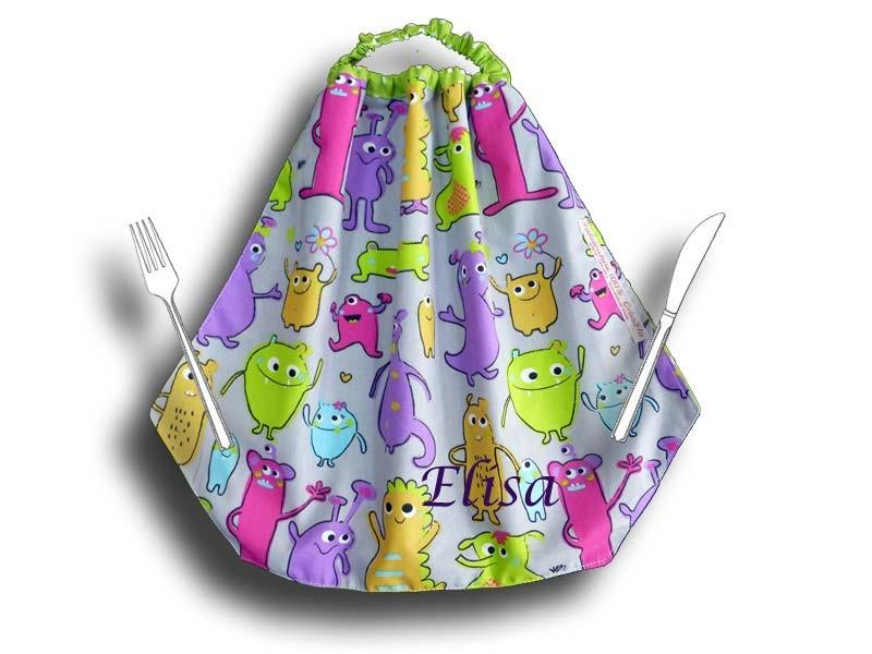 Grande serviette de table élastiquée maternelle - Petit Monstre