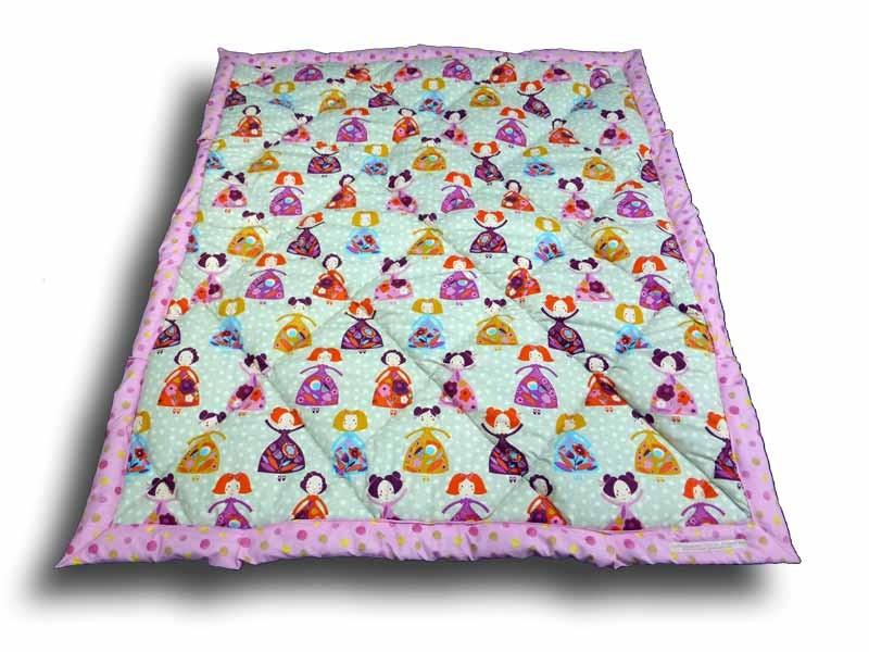 Edredon - Couvre lit enfant 100 x 120 cm motif Princesse