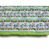 Couvre lit enfant 100 x 120 cm motif Voitures de Course, détail de confection