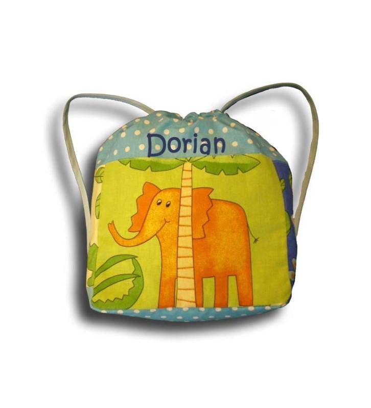 sac à dos savane éléphant