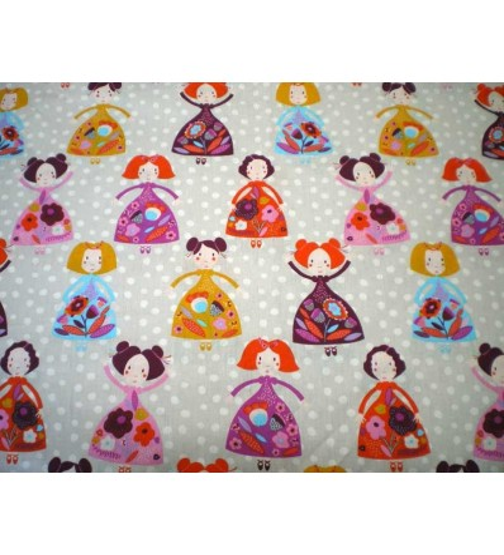 Tissu Fille motif Princesse